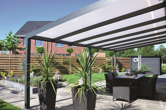 Pergola panoramique dbc r novation for Recouvrement galerie exterieure